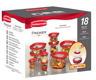 Rubbermaid 18 piece premier food storage set only for Premier cuisine